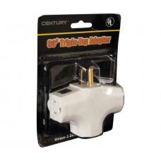 90 Degree Tri Tap Adapter, White