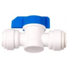 "Inline shut off valve 3/8"" QC x 3/8"" QC"