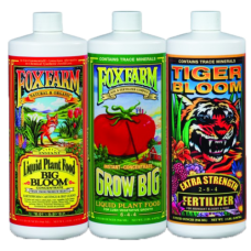 FOX FARM LIQUID NUTRIENT 3-PAK HYDROPONIC FORMULA – GALLONS